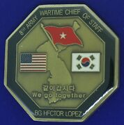 Us Army 8th Army Wartime Chief Of Staff Bg Lopez Challenge Coin