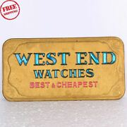 Old Vintage West End Watches Litho Print Ads Sign Board Made Of Cardboard 735
