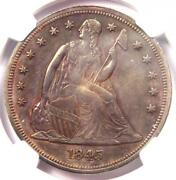 1845 Seated Liberty Silver Dollar 1 Coin - Ngc Uncirculated Detail Unc Ms