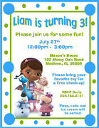 12 Custom Doc Mcstuffins Birthday Invitations Style 8 By The Notecard Lady