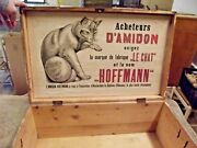 Old Chest Trunk Wood Deco Voyage Le Chat Hoffmann Rare Star Nineteenth Century