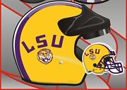 Louisiana State University Motorcycle Helmet Lsu - Mopeds Scooters All Types Dot