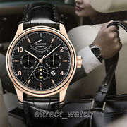 43mm Parnis Miyota Power Reserve Automatic Men's Casual Watch Sapphire Crystal