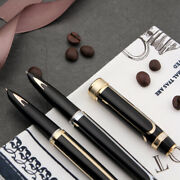 Hero 100 14k Gold Fountain Pen Metal Authentic Quality Lines Writing Gift Pen