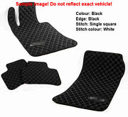 Leather Car Floor Mats Luxury Bespoke Fully Tailored Fit Mercedes C W205 2015-