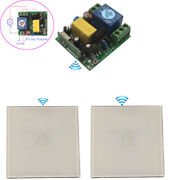 110v Wireless Switch Touch Wall Light Switch Crystal Glass Panel 220v Switch Kit