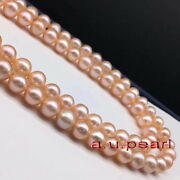 Long Round Aaaaa 3612-14mm Real Natural South Sea Gold Pink Pearl Necklace 14k