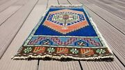 Beautiful Antique 1940-1950and039s Wool Pile Natural Dyes Area Rug 1and0393and039and039x2and03910and039and039