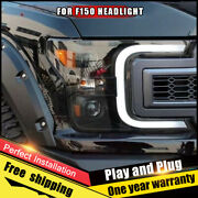 For Ford F-150 Headlights Assembly Bi-xenon Lens Double Beam Hid Kit 2018-2019