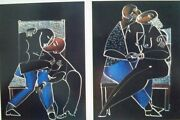 Yuroz  The Wicker Kiss Suite 2 Pieces Signed By Artist