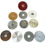 6 Diamond Wheel And Pads Lapidary Used Please Check Images