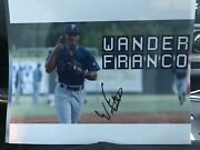 Wander Franco Autographed 8x10 Photo Tampa Bay Rays Bowling Green E