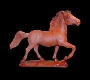 Natural Jasper Horse Canter Carving Statue Collectible/ Home Decor Hand Made