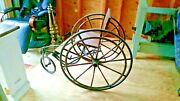 Tiller And Treadle Velocipede Teddy Bear Toy Bicycle Doll Antique Tricycle We-ship