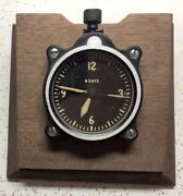 Longines Wittnauer Lecoultre Made 7 Jewel Cal 201m A-7 Desk Aircraft Clock
