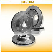 For Buick/chevy/gmc/isuzu 4pcs F+r L+r Drilled Slotted Vented Disc Brake Rotors
