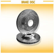 For Buick/gmc/chevy/isuzu2pc Front L+r Drilled Slotted Vented Disc Brake Rotors