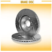 For Acura/honda 2pcs Front Left+right Drilled Slotted Vented Disc Brake Rotors