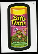 2013 Topps Wacky Packages Series 11 Black Ludlow Back 52 Silly Thing