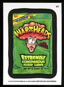 2013 Topps Wacky Packages Series 11 Black Ludlow Back 41 Wartheads