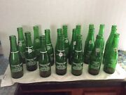 Vintage Antique Canada Dry Ginger Ale Acl Green Glass Soda Bottles Andwooden Crate