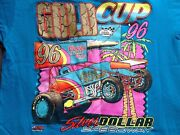 Vintage T Shirt L Gold Cup 1996 Chico Coors Light Racing Silver Dollar Speedway