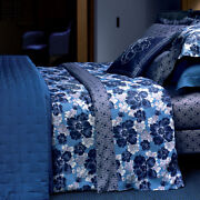 Yves Delorme Auchaud Blue Poppy Anemone Pansy Violets Flower 2 Duvet Cover Sets