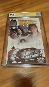Back To The Future Lcsd Comic Cgg 9.4 Signed By Fox Llyod And Thompson