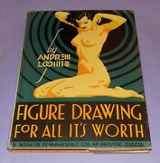 Rare Original 1947 Andrew Loomis Figure Drawing For All Its Worth