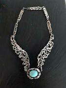 A Mexican Modernist Sterling Silver Necklace By Tane Orfebres