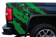 Custom Vinyl Graphics Decal Wrap Kit For 2014-2017 Gmc Sierra Parts Ripped Green