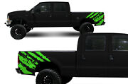 Custom Vinyl Graphics Decal Rip Wrap Kit For Ford F-250/f-350 Truck 99-06 Green
