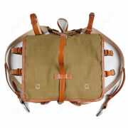 Wwii Ww2 Chinese Army Kmt Combat Field Haversack Linen Backpack Leather Military