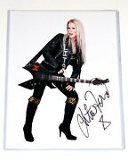 Lita Ford Hand Signed 8.5x11 Photo The Runaways Autograph