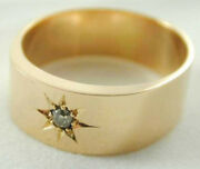 Antique 18 Ct Diamond Set Ring Beautifully Made 9.97 Grams Size T 1/2