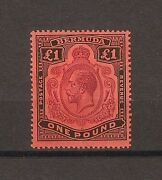 Bermuda 1918-22 Sg 55b Broken Crown And Scroll Mint Cat Andpound900