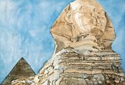 Philip Pearlstein Sphinx 1979. Signed Numbered Fine Art Color Print