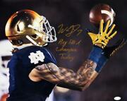 Will Fuller Signed 16x20 Catch Photo W/7 3 Lines Play Like A Champ Today-jsa W