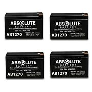 4 Pack New Ab1270 12v 7ah Sla Battery Replacement For Sports Tutor Tennis Tutor