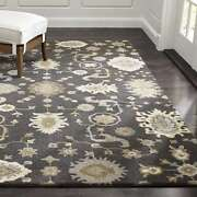Crate And Barrel 5' X 8' Juno Handmade Parsian Style 100 Woolen Rugs And Carpet