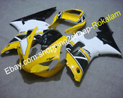 For Yamaha Yzf R1 2000 2001 Yzf-r1 Yellow Black Aftermarket Motorcycle Fairing