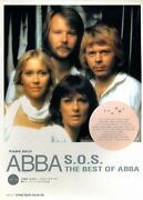 Abba S.o.s. The Best Of Abba Music Book Photo Vintage Piano Solo Guitar