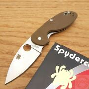 Spyderco Efficient Folding Knife 3 8cr13mov Stainless Steel Blade G10 Handle