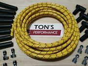 8mm Vintage Cloth Covered Spark Plug Wire Kit For Electronic Ignition Systems Yl