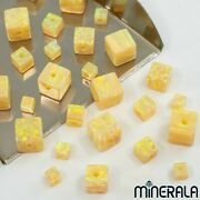 Yellow Synthetic Lab Created Opal Cube Loose Beads Various Sizes Wp002a7