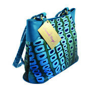 Swank Bags Hand-made And Painted Abstract Leather Tote Sb066-5