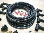 8mm Vintage Cloth Covered Spark Plug Wire Kit For Electronic Ignition Systems Bl
