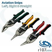 Blue Point Aviation Tin Snips Set L R And S Cut - As Sold By Snap On.