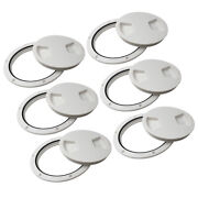 6pcs Marine Boat Rv 5 Access Hatch Cover Twist Out Deck Plate Abs Plastic
