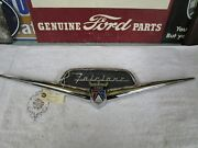 1956 Ford Fairlane Trunk Emblem And Chrome Housing Restored